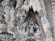 Holy family on the exterior of Sagrada familia