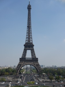 Eiffel Tower in Paris from the Trocadero