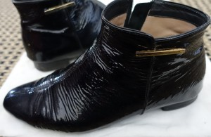 black patent leather Beautifeel ankle boots