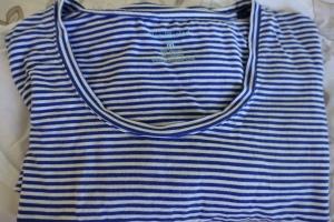 Blue and white striped Blue Illusion Tshirt