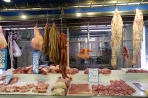 butcher's stall in the Athens meat market