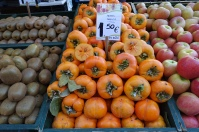Fresh persimmons