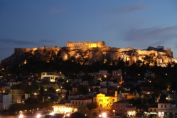 frugalfirstclasstravel: twilight over the Acropolis