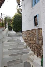 white steps in Anafiotika, Athens