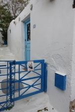 blue gate in Anafiotika, Athens