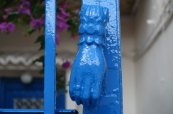 hand shaped door knob in Anafiotika, Athens