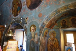 Religious art in a Greek Orthodox church