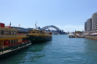 Circular Quay with ferries and harbour bridge
