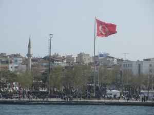 Turkish flag flying near the Topkapi Palace