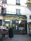 Entrance to Shakespeare & Co bookshop in Paris