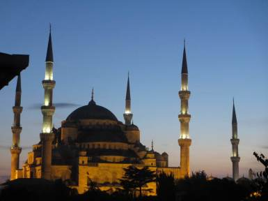 The Blue Mosque at twilight