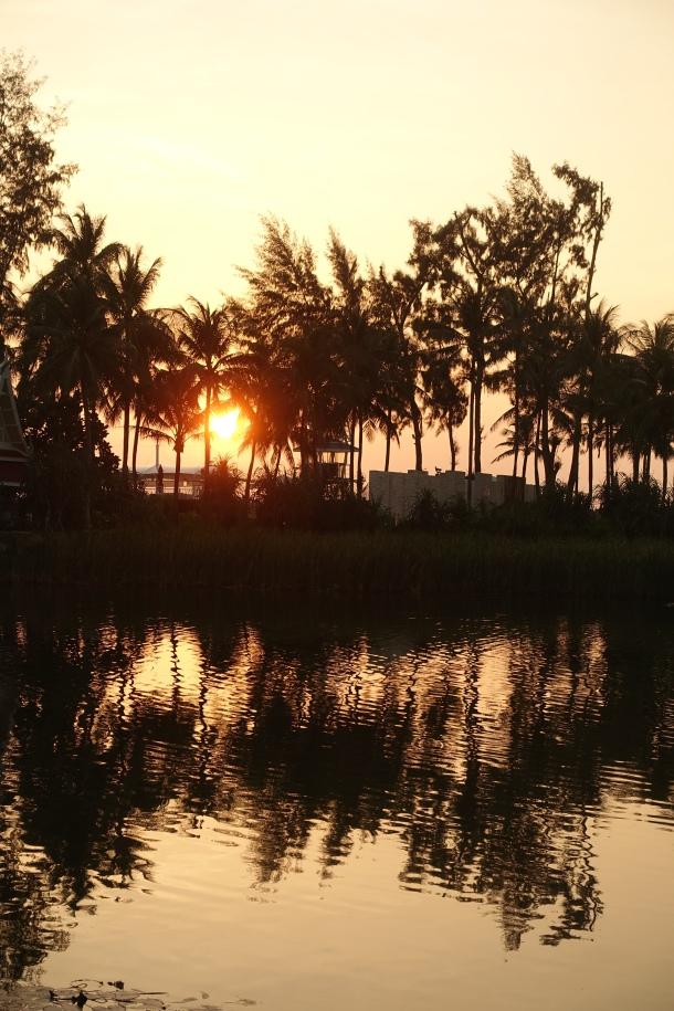 sunset at Angsana Laguna Phuket Thailand