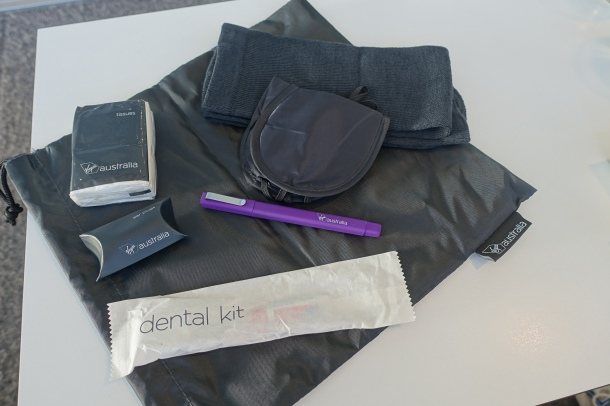 Virgin Australia B737 Business Class amenities kit