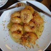 Donut style loukomedes with honey